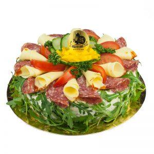 Smörgåstårta med salami