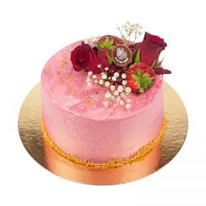 amerikansk tårta rosa ros